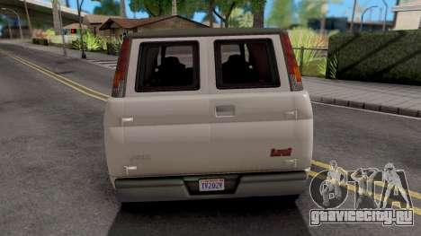 GTA V Declasse Burrito для GTA San Andreas