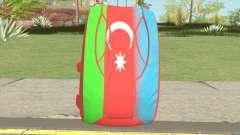 New Parachute (Azerbaijan Flag) для GTA San Andreas