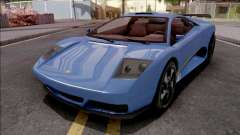 GTA V Pegassi Infernus Blue для GTA San Andreas