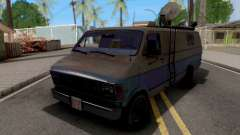 Dodge Ram Van 1989 San News для GTA San Andreas
