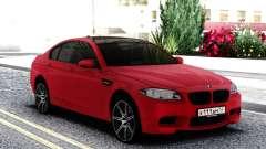 BMW M5 F10 Sedan Red для GTA San Andreas