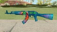 Warface AK-103 (Evil Santa) для GTA San Andreas