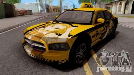Dodge Charger SRT8 Taxi Itasha для GTA San Andreas