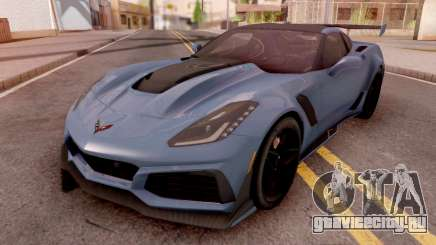 Chevrolet Corvette ZR1 2019 Blue для GTA San Andreas