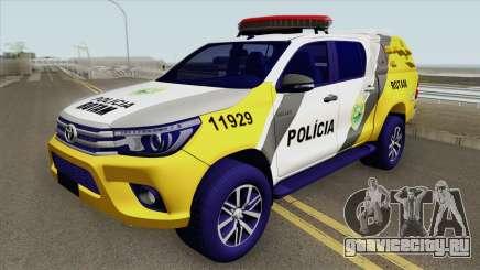 Toyota Hilux SR5 2017 (ROTAM PMPR) для GTA San Andreas