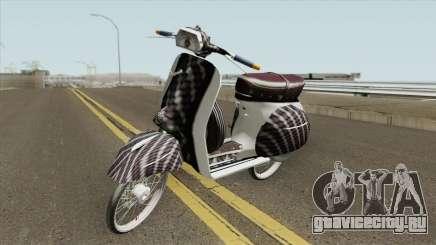 Vespa 180SS Rim Nouvo MX White Reborn для GTA San Andreas