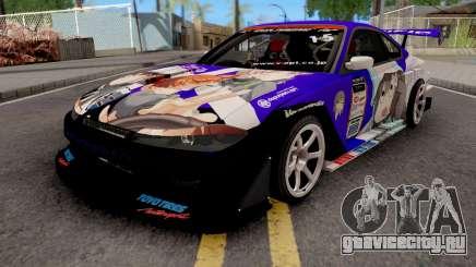 Nissan Silvia S15 Uras D1GP with Mika Girl v2 для GTA San Andreas