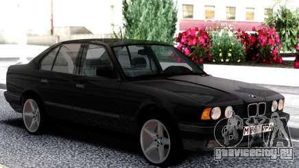 BMW 525i E34 1992 Black Classic для GTA San Andreas