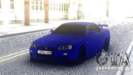 Nissan Skyline R34 Blue Sport для GTA San Andreas