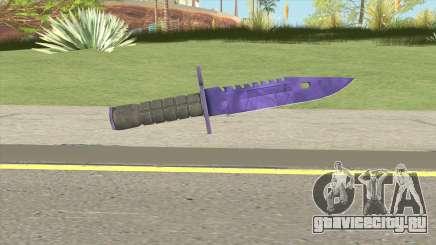 CS:GO M9 Bayonet (Doppler Sapphire) для GTA San Andreas