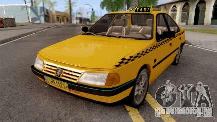 Peugeot 405 GLX Taxi v2 для GTA San Andreas