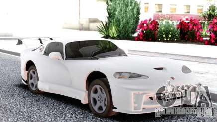 Dodge Viper GTS White для GTA San Andreas