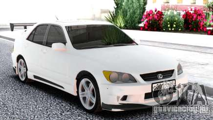 Lexus IS300 White Sedan для GTA San Andreas
