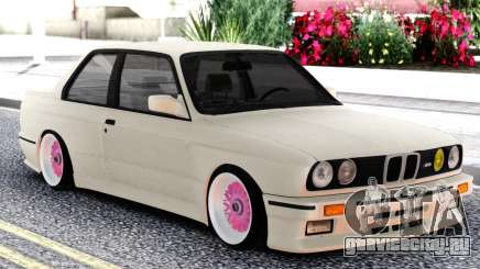 BMW E30 White Sedan для GTA San Andreas