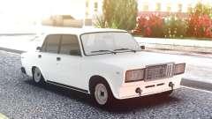 ВАЗ 2107 Белый Заниженный для GTA San Andreas