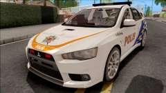 Mitsubishi Lancer Evolution X PDRM White для GTA San Andreas
