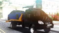 Эвакуатор ГАЗ-3302 с Автомобилем на крыше
