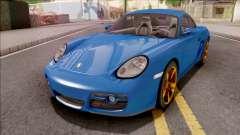 Porsche Cayman S Blue для GTA San Andreas