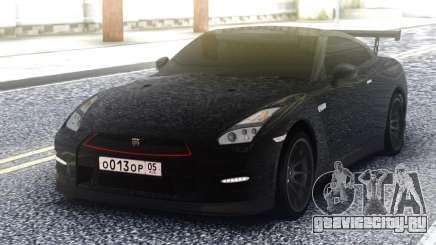 Nissan GT-R 35 Black для GTA San Andreas