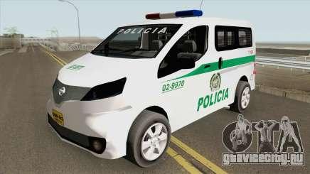 Nissan NV200 (Patrullas Colombianas) для GTA San Andreas
