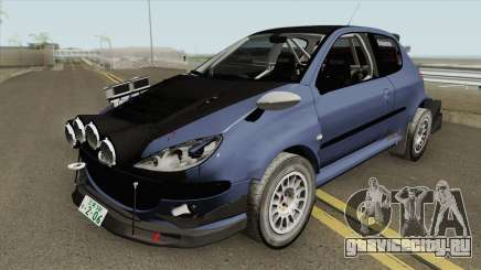 Peugeot 206 Rally (Street) Tuned для GTA San Andreas