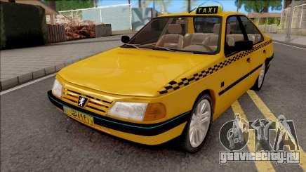 Peugeot 405 GLX Taxi v4 для GTA San Andreas