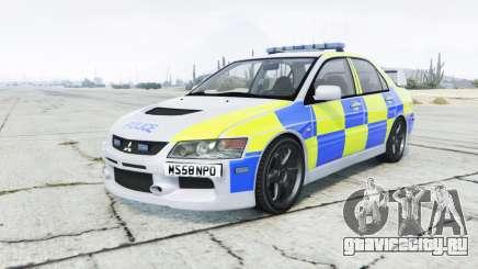 Mitsubishi Lancer Evolution VIII British Police для GTA 5