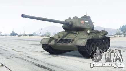 Т-34-85 зелёный окрас для GTA 5