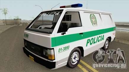 Toyota Hiace (Patrullas Colombianas) для GTA San Andreas
