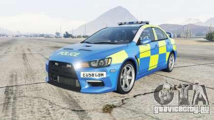 Mitsubishi Lancer Evolution X Essex Police для GTA 5