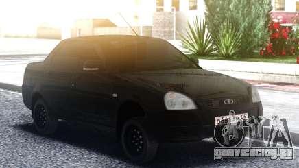 Лада Приора Черная для GTA San Andreas