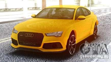 Audi RS7 Yellow для GTA San Andreas