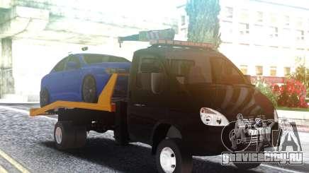 Эвакуатор ГАЗ-3302 с Автомобилем на крыше для GTA San Andreas