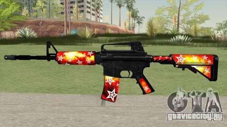 M4A1 (Galaxy Stars Fire Skin) для GTA San Andreas