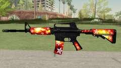 M4A1 (Galaxy Stars Fire Skin)