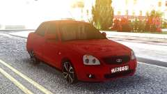 Лада 2170 Красная Приора для GTA San Andreas