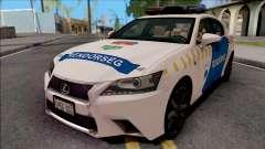Lexus GS350 Magyar Rendorseg для GTA San Andreas