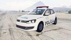 Volkswagen Gol 5-door Policia Militar Brasil для GTA 5