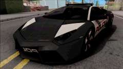 Lamborghini Reventon Police Black для GTA San Andreas