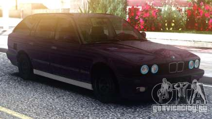 BMW E34 525 Purple для GTA San Andreas