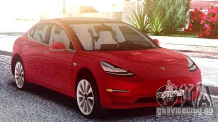 Tesla Model 3 Red для GTA San Andreas