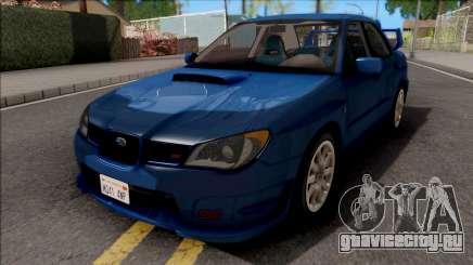 Subaru Impreza WRX STi Blue для GTA San Andreas