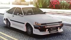 Toyota Corolla AE86 Original White для GTA San Andreas
