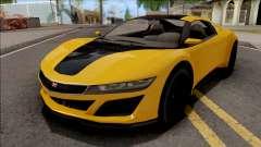 GTA V Dinka Jester Yellow для GTA San Andreas