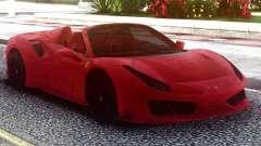 Ferrari 488 Pista Spider 2019 Roadster для GTA San Andreas