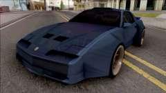 Pontiac Trans AM 1987 Blue для GTA San Andreas