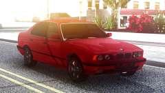 BMW 525i E34 Original Red для GTA San Andreas