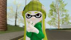 Inkling Girl Green (Splatoon) для GTA San Andreas