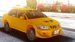 Mitsubishi Lancer Evolution VII Yellow для GTA San Andreas