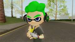 Inkling Boy Green V2 (Splatoon) для GTA San Andreas